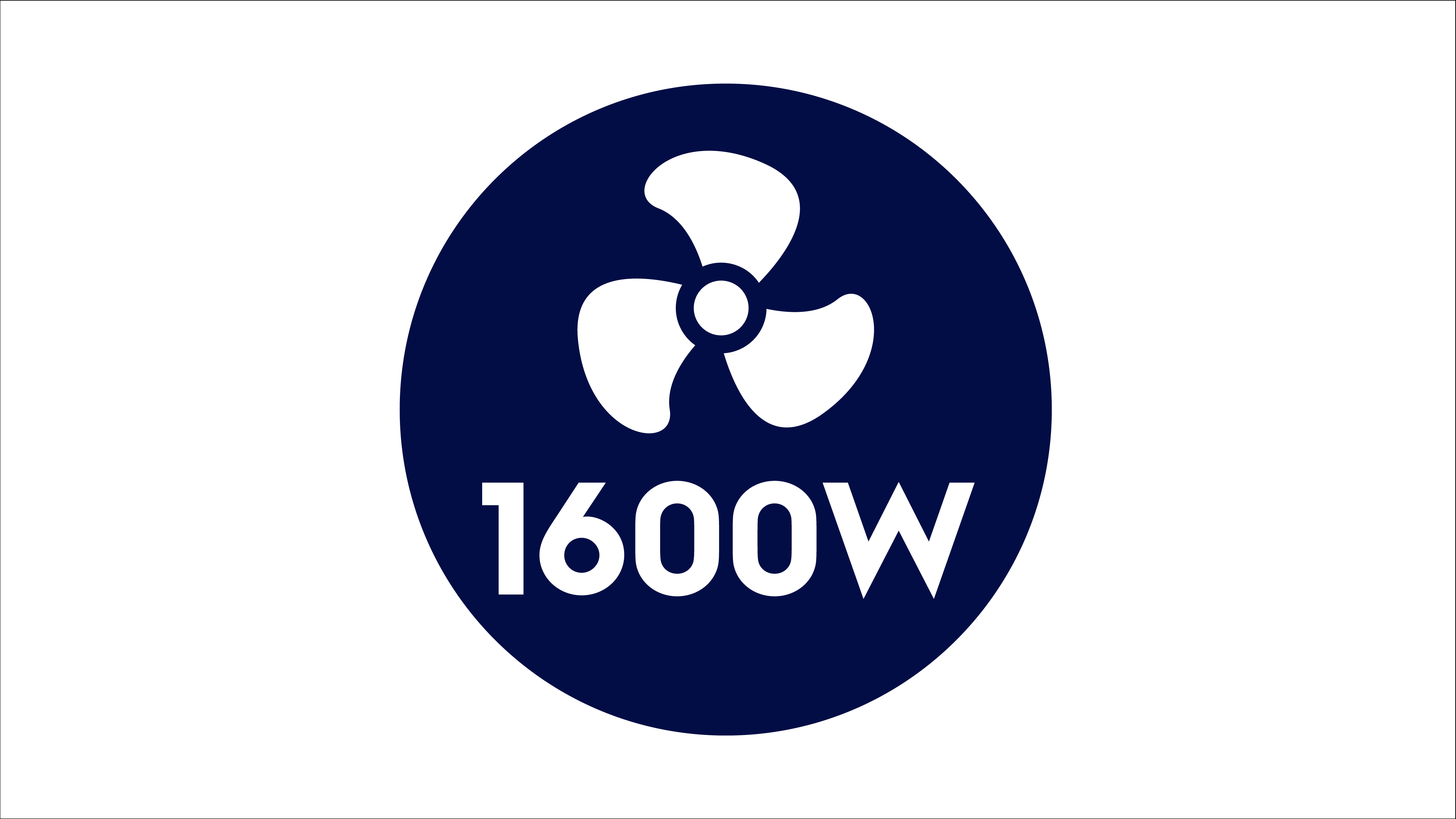 1,600W maximum motor power