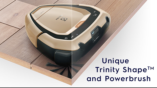 Unique Trinity Shape™ and Power Brush